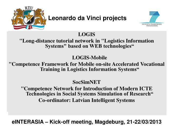 Leonardo da Vinci projects