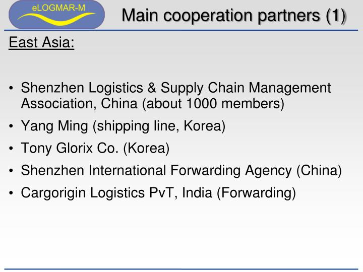 Main cooperation partners (1)