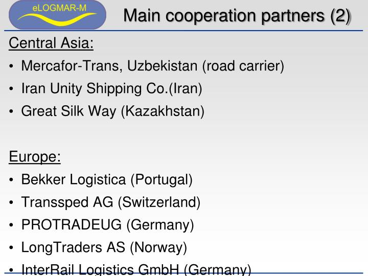Main cooperation partners (2)