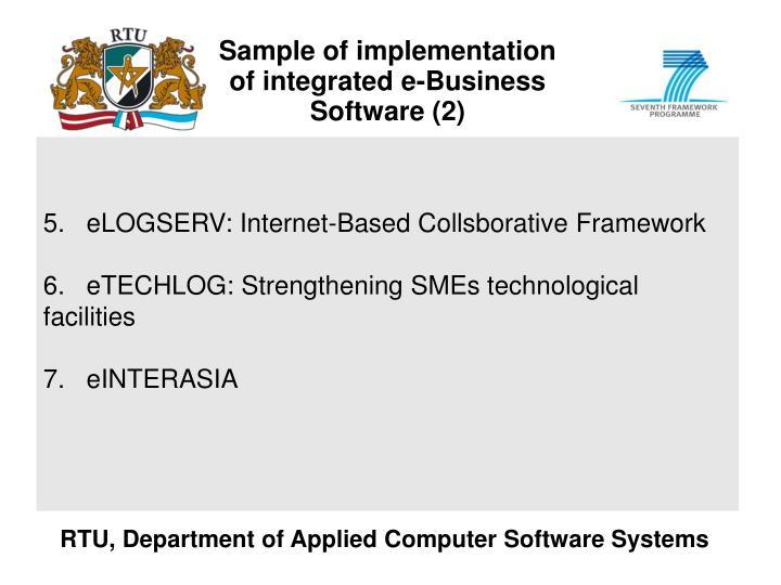 Sample of implementation