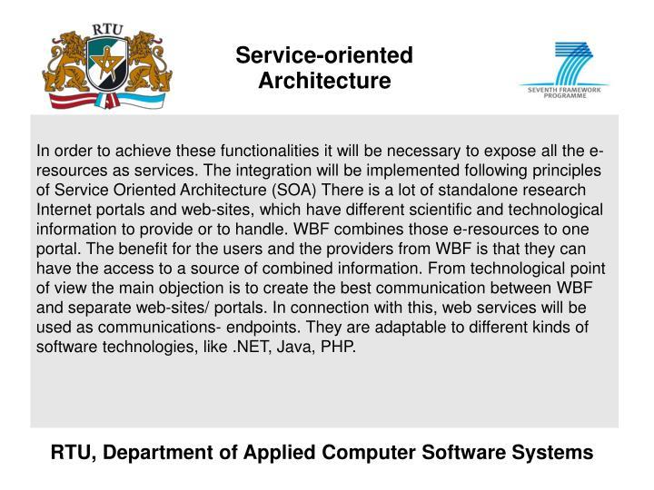 Service-oriented