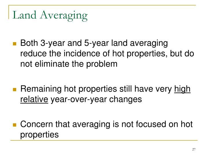 Land Averaging