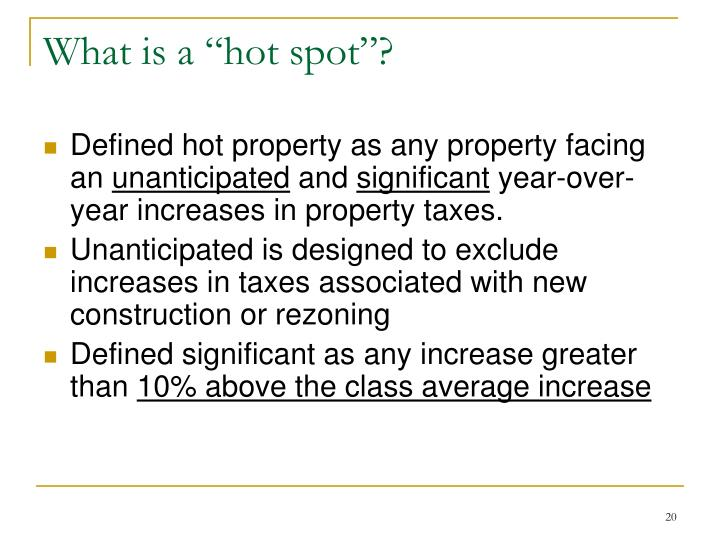"""What is a """"hot spot""""?"""