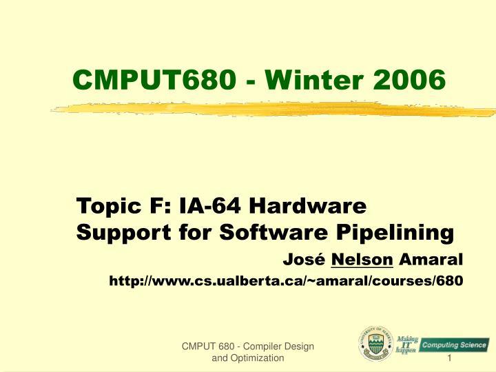 cmput680 winter 2006