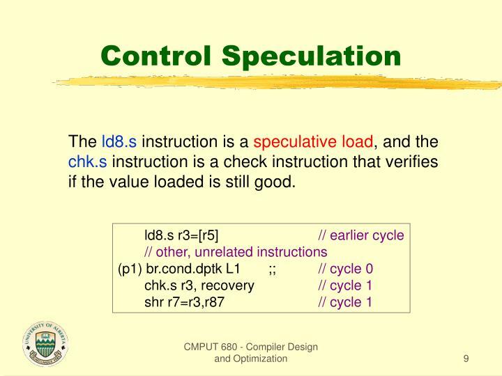 Control Speculation