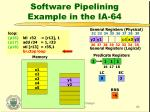software pipelining example in the ia 6420