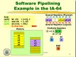 software pipelining example in the ia 6425