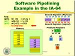 software pipelining example in the ia 6430