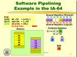 software pipelining example in the ia 6431