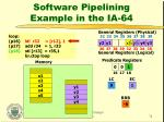 software pipelining example in the ia 6432