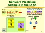 software pipelining example in the ia 6433