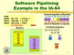 software pipelining example in the ia 6437