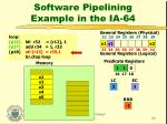 software pipelining example in the ia 648