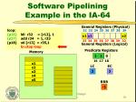 software pipelining example in the ia 649