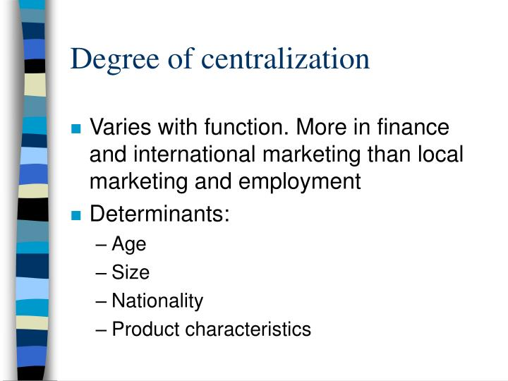 Degree of centralization