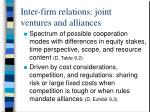 inter firm relations joint ventures and alliances