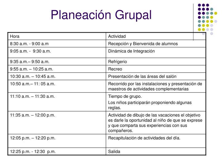 Planeación Grupal