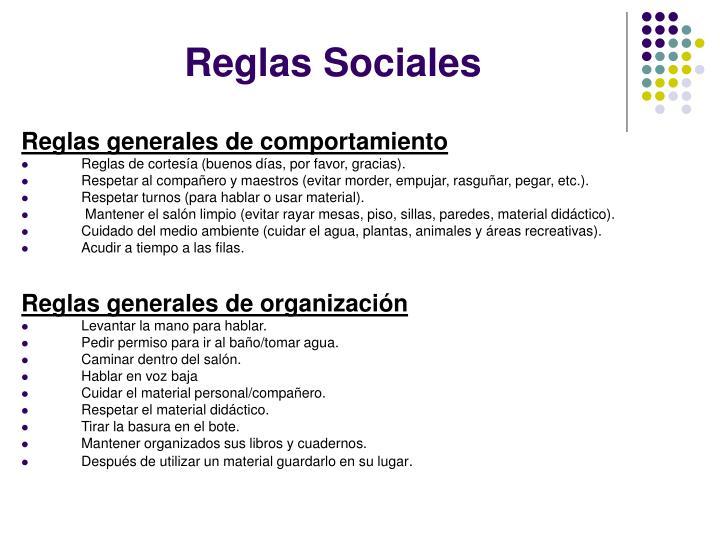 Reglas Sociales