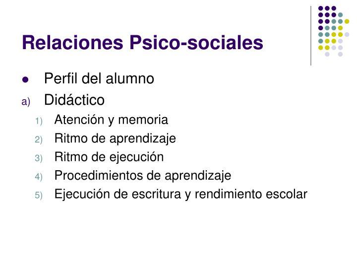 Relaciones Psico-sociales