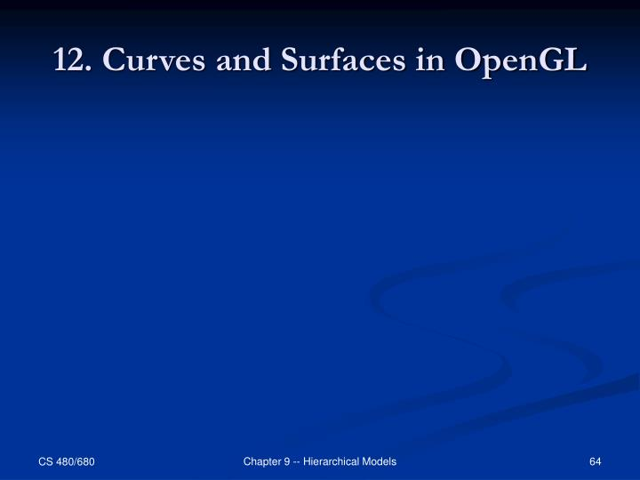 12. Curves and Surfaces in OpenGL