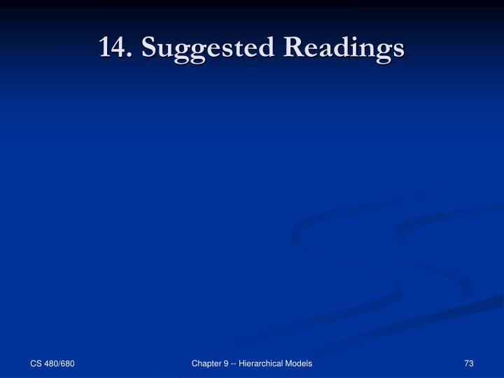 14. Suggested Readings
