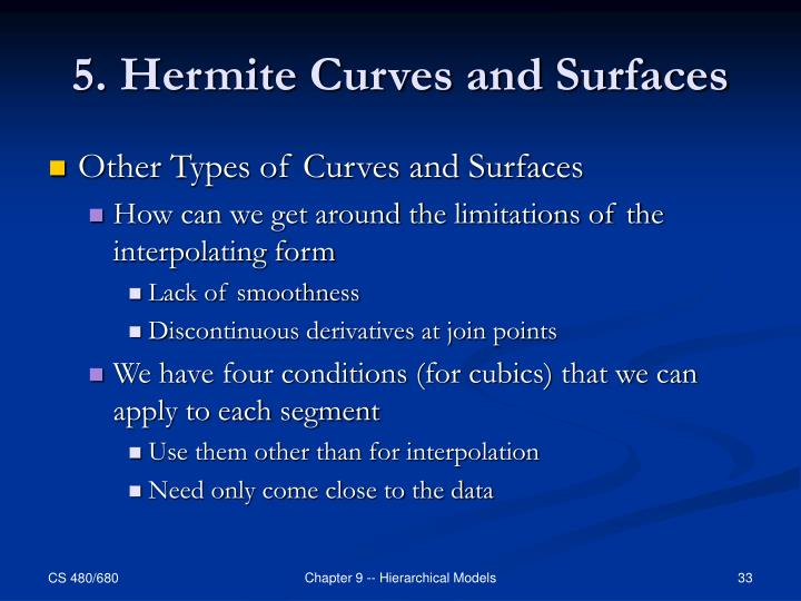 5. Hermite Curves and Surfaces