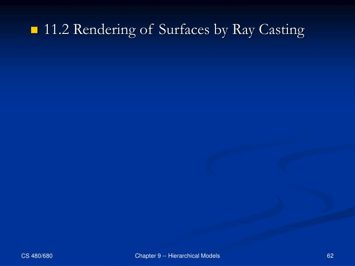 11.2 Rendering of Surfaces by Ray Casting