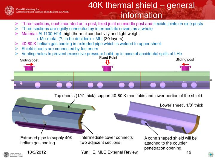40K thermal shield – general information