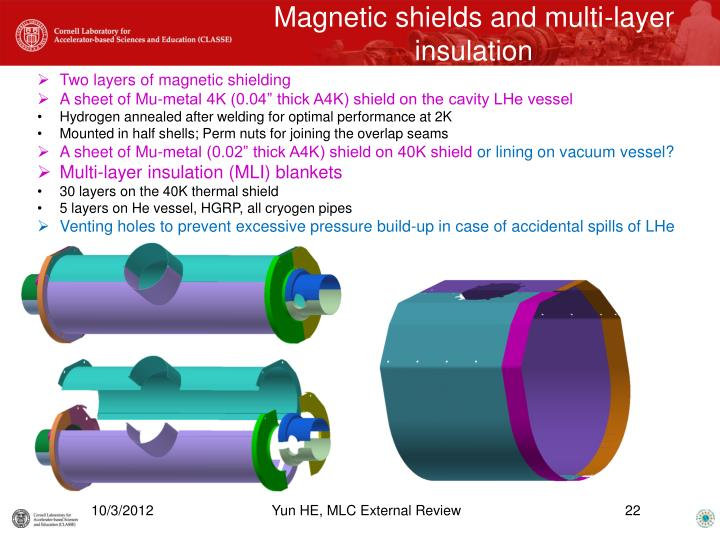 Magnetic shields and multi-layer insulation