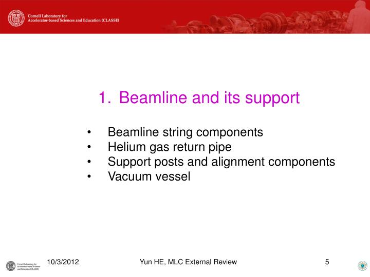Beamline and its support