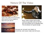 nature of the video1