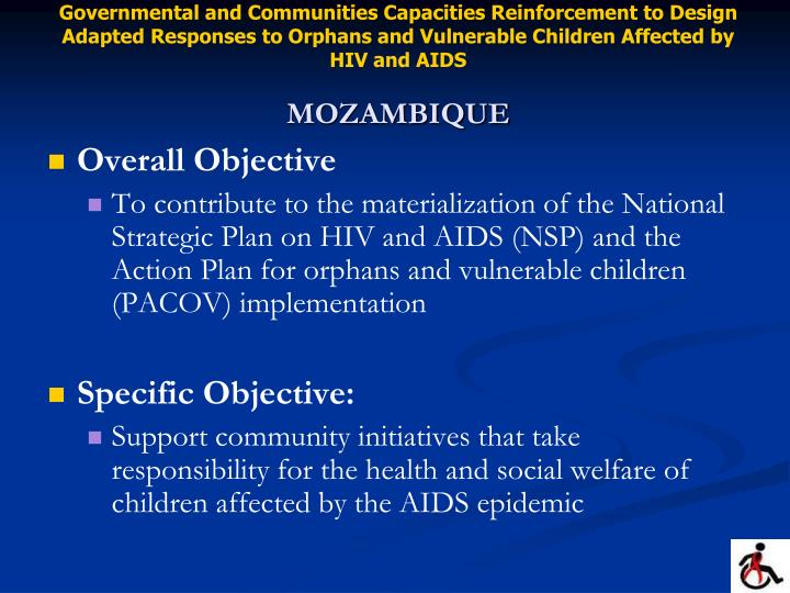 Governmental and Communities Capacities Reinforcement to Design Adapted Responses to Orphans and Vulnerable Children Affected by HIV and AIDS