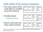 slide taken from project proposal