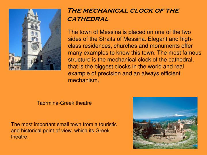The mechanical clock of the cathedral