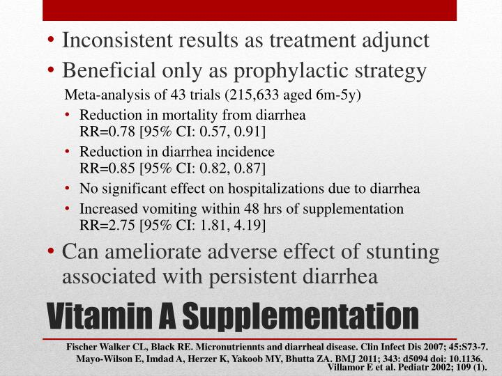Inconsistent results as treatment adjunct