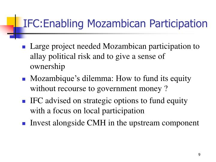 IFC:Enabling Mozambican Participation