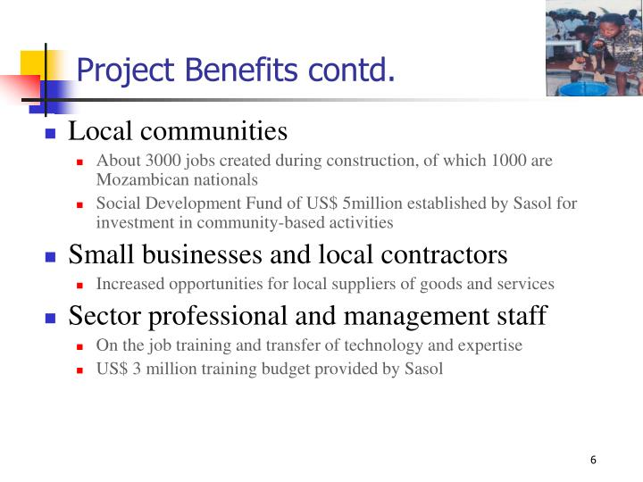 Project Benefits contd.