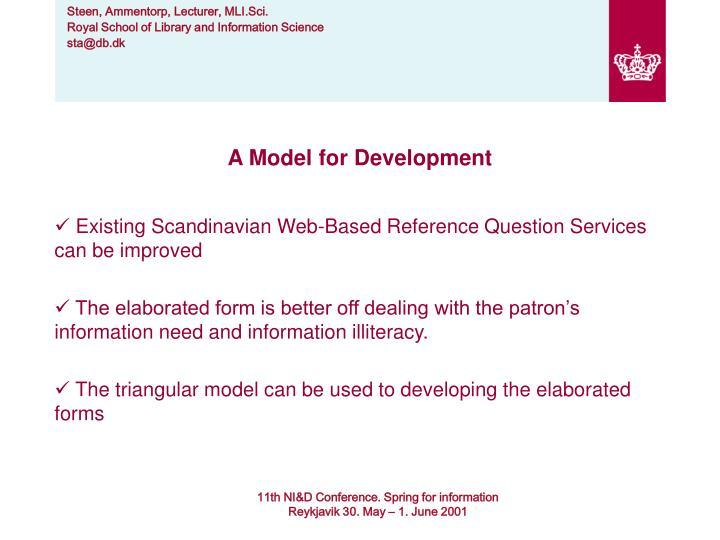 A Model for Development