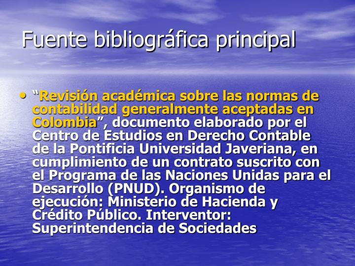 Fuente bibliográfica principal