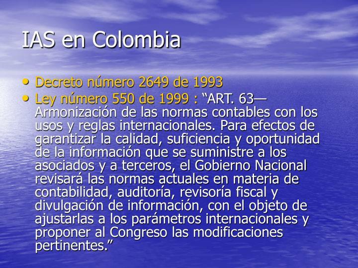 IAS en Colombia