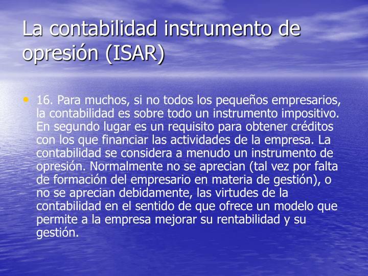 La contabilidad instrumento de opresión (ISAR)