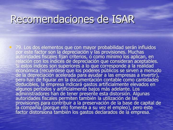 Recomendaciones de ISAR