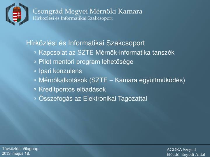 Hírközlési és Informatikai Szakcsoport