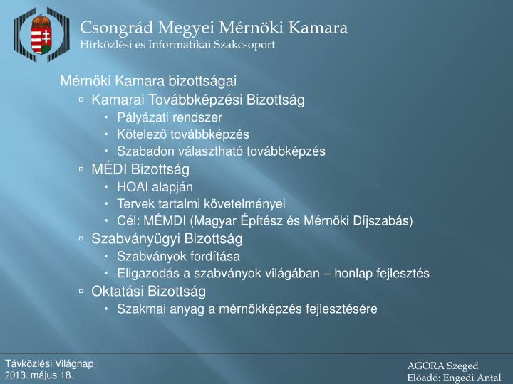 Mérnöki Kamara bizottságai