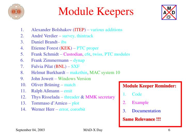 Module Keepers