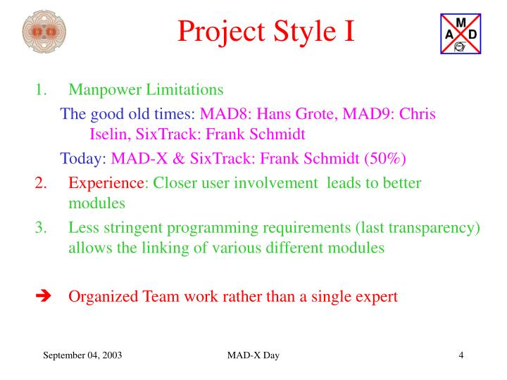 Project Style I
