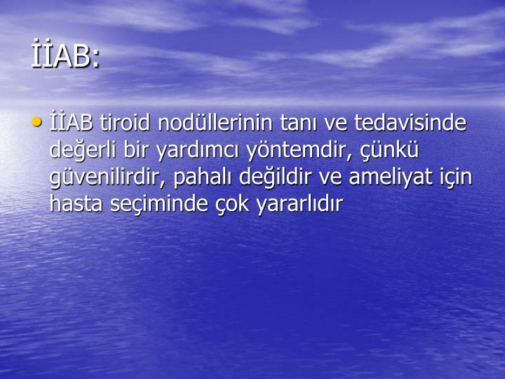 İİAB: