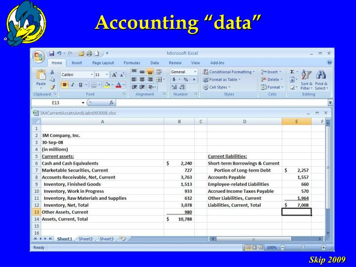 """Accounting """"data"""""""