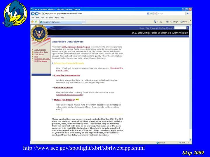 http://www.sec.gov/spotlight/xbrl/xbrlwebapp.shtml