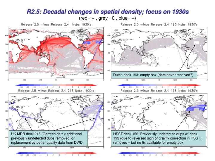 R2.5: Decadal changes in spatial density; focus on 1930s